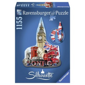 Ravensburger Silhouette puzzle London Big Ben 1155 dílků