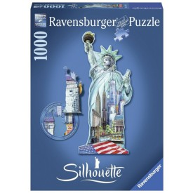 Ravensburger Silhouette puzzle Socha svobody 1000 dílků