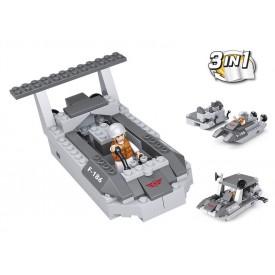 Stavebnice SLUBAN B0537D Vyloďovací člun 3v1