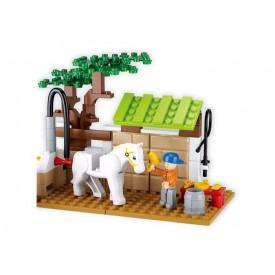 Stavebnice SLUBAN B0557 Péče pro koně