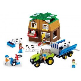 Stavebnice SLUBAN B0561 Farma s kravičkami