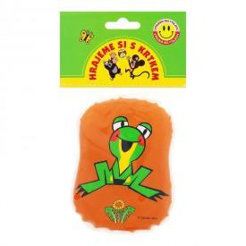 Wiky Pískací polštářek Krtek Veselá žabka hnědý