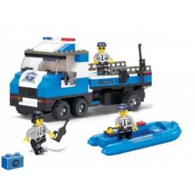 Stavebnice SLUBAN B0186 Policejní náklaďák s člunem