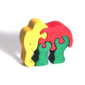CEEDA CAVITY Dřevěné malé puzzle Slon