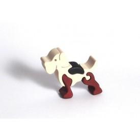 CEEDA CAVITY Dřevěné malé puzzle Pejsek