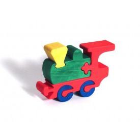 CEEDA CAVITY Dřevěné malé puzzle Mašinka