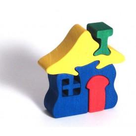 CEEDA CAVITY Dřevěné malé puzzle Domeček