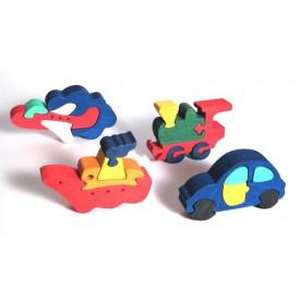 CEEDA CAVITY Dřevěný puzzle sada Dopravní prostředky