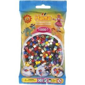 HAMA Zažehlovací korálky barevné mix 5 1000ks MIDI