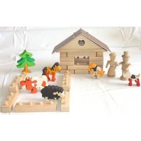 CEEDA CAVITY Dřevěná stavebnice se zvířátky
