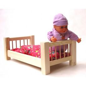 CEEDA CAVITY Velká dřevěná postýlka pro panenky