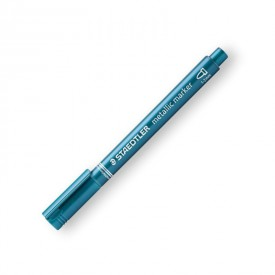 STAEDTLER Popisovač metalický modrý
