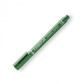 STAEDTLER Popisovač metalický zelený