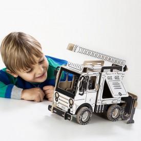 Kartonová 3D skládačka TO DO Hasičské auto cisterna