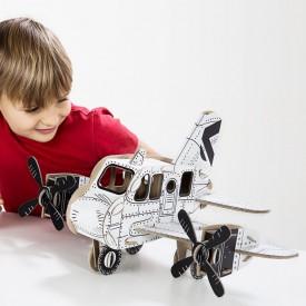 Kartonová 3D skládačka TO DO Letadlo