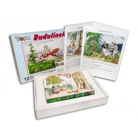 Topa Toys Dřevěné kostky s obrázky Budulínek 12ks