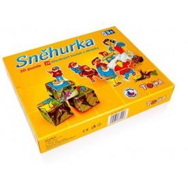 Topa Toys Dřevěné kostky s obrázky 3D Sněhurka 20ks
