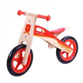 Bigjigs Toys dřevěné odrážedlo Červené kolo