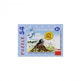 DINO Minipuzzle Krtek 19,8x13,2 cm 54 dílků Krteček na hromádce