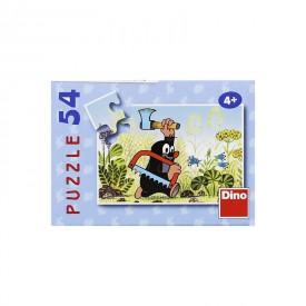 DINO Minipuzzle Krtek 19,8x13,2 cm 54 dílků Krteček s pilou a sekyrou
