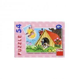 DINO Minipuzzle Krtek 19,8x13,2 cm 54 dílků Krteček Krteček v domečku