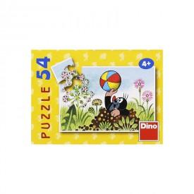 DINO Minipuzzle Krtek 19,8x13,2 cm 54 dílků Krteček Krteček s míčem