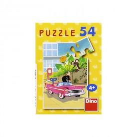 DINO Minipuzzle Krtek 19,8x13,2 cm 54 dílků Krteček Krteček a autíčko