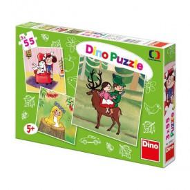 DINO Puzzle české pohádky 3 x 55 dílků