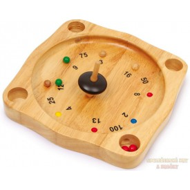 Dřevěná ruleta přírodní