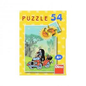DINO Minipuzzle Krtek 19,8x13,2 cm 54 dílků Krteček jede na výlet