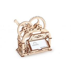 Dřevěná stavebnice 3D mechanické Puzzle - box na vizitky