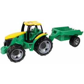 LENA Traktor bez lžíce a bagru s vozíkem plastový