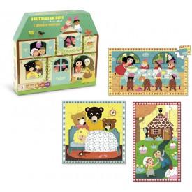 Vilac dřevěné pohádkové puzzle 3v1