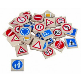 Dřevěné hračky - dřevěné hry - Pexeso dopravní značky