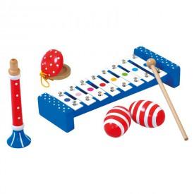 Dřevěné hračky - Set hudebních nástrojů