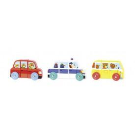 Dřevěná hračka Vilac - Magnetická auta