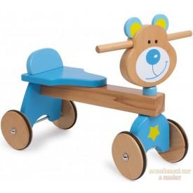 Dřevěné odrážedlo medvěd