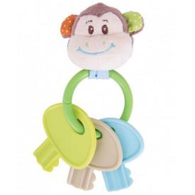 Bigjigs Toys - Chrastítko kroužek s klíči opička Cheeky