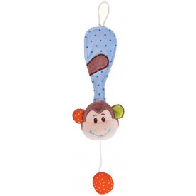 Bigjigs Toys - Klips na dudlík opička Cheeky