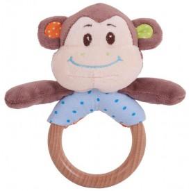Bigjigs Toys - Chrastítko kroužek opička Cheeky