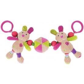 Bigjigs Toys - Chrastítko do kočárku králíček Bella