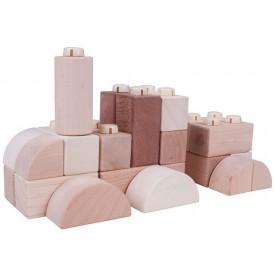 Bigjigs Toys dřevěné Spojkostky - Natur set 100 kusů