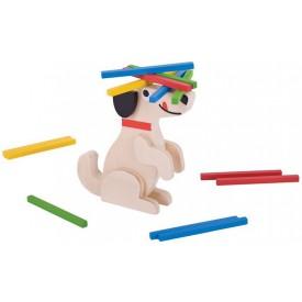 Bigjigs Toys dřevěná motorická hra - Kolik pes unese