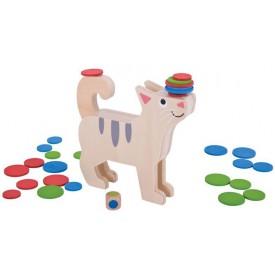 Bigjigs Toys dřevěná motorická hra - Kolik kočka unese