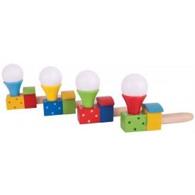 Bigjigs Toys hra foukání lokomotiva 1ks