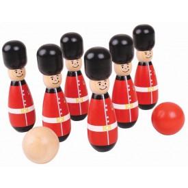 Bigjigs Toys dřevěné hry - kuželky angličtí gardisti