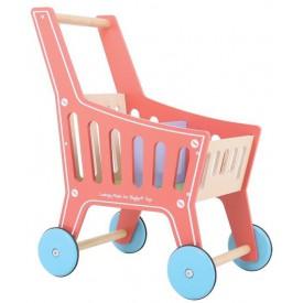 Bigjigs Toys dřevěný nákupní vozík