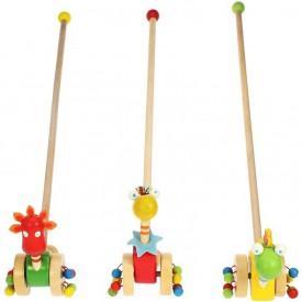 Bigjigs Toys tahací hračky - Jezdík dinosauři