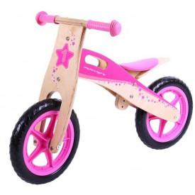 Bigjigs Toys dřevěné odrážedlo Růžové kolo