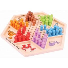 Bigjigs Toys dřevěná hra - čínská dáma